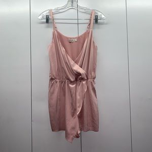 Pink Silky Romper